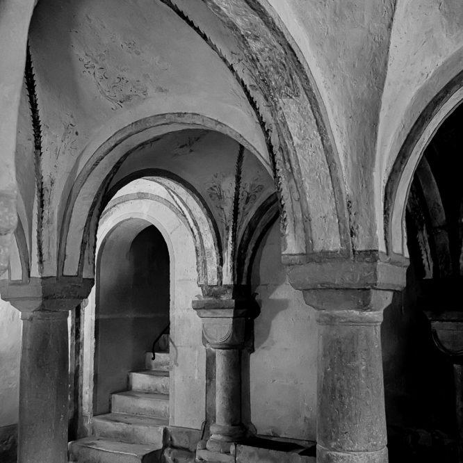 St. Ursanne, Apsis der Stiftskirche